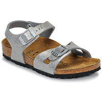 Shoes Girl Sandals Birkenstock RIO Glitter / Silver