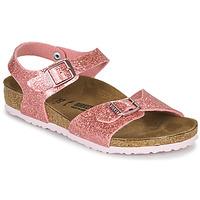 Shoes Girl Sandals Birkenstock RIO PLAIN Cosmic / Sparkle / Old / Pink