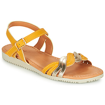 Shoes Girl Sandals André TRESSIA Yellow