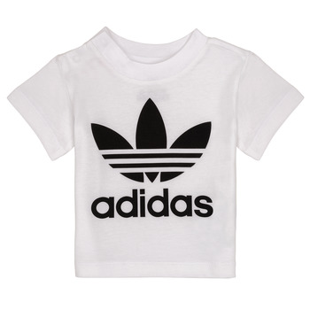material Children short-sleeved t-shirts adidas Originals MAELYS White