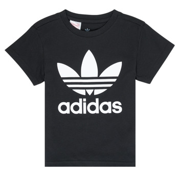 material Children short-sleeved t-shirts adidas Originals LEILA Black