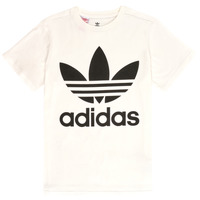 material Children short-sleeved t-shirts adidas Originals SARAH White