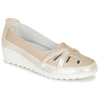 Shoes Women Ballerinas Damart MILANI Beige / Gold