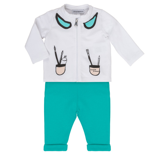 material Girl Sets & Outfits Emporio Armani Aubin White / Blue