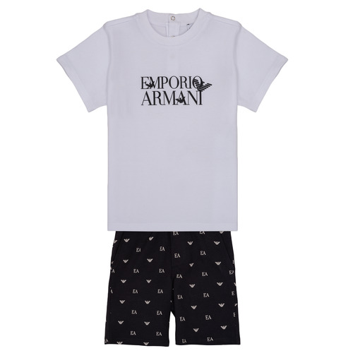 material Boy Sets & Outfits Emporio Armani Auxence White / Black