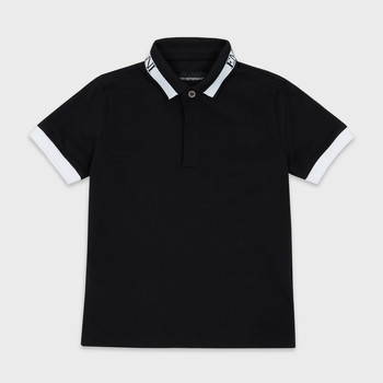 material Boy short-sleeved polo shirts Emporio Armani Anael Black
