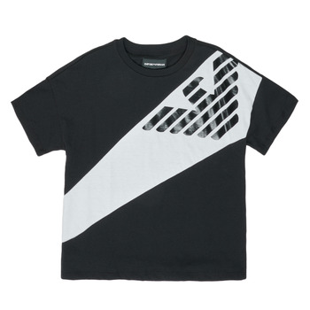 material Boy short-sleeved t-shirts Emporio Armani Blaise Black / White
