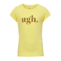 material Girl short-sleeved t-shirts Only KONJULLA Yellow