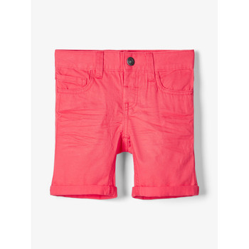material Boy Shorts / Bermudas Name it NMMSOFUS TWIISKA Red
