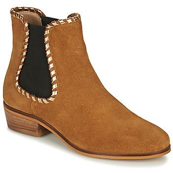 Shoes Women Ankle boots André BRETT Camel