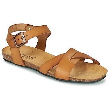 Shoes Women Sandals André BREHAT Brown
