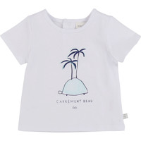 material Boy short-sleeved t-shirts Carrément Beau MARTINEZ White