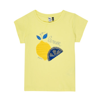 material Girl short-sleeved t-shirts 3 Pommes DYLAN Yellow