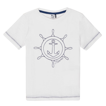 material Boy short-sleeved t-shirts 3 Pommes FLORIAN White