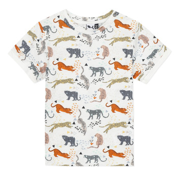 material Boy short-sleeved t-shirts 3 Pommes ARIANE Orange