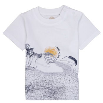 material Boy short-sleeved t-shirts Timberland ANTONIN White