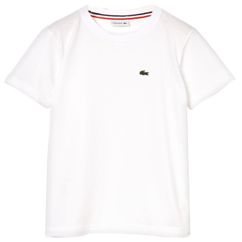 material Boy short-sleeved t-shirts Lacoste ALIZE White