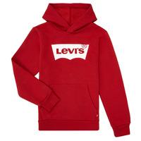 material Boy sweaters Levi's BATWING SCREENPRINT HOODIE Red
