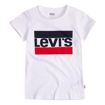material Girl short-sleeved t-shirts Levi's SPORTSWEAR LOGO TEE White