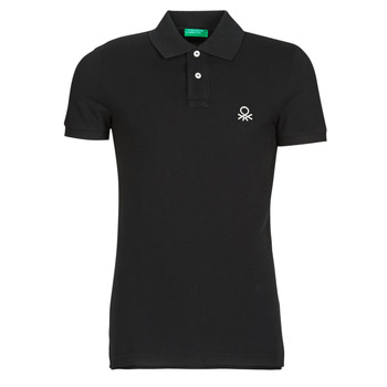 material Men short-sleeved polo shirts Benetton  Black