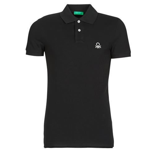 material Men short-sleeved polo shirts Benetton MARNELLI Black