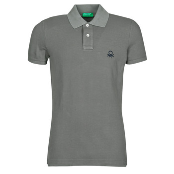 material Men short-sleeved polo shirts Benetton  Grey