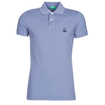 material Men short-sleeved polo shirts Benetton  Blue