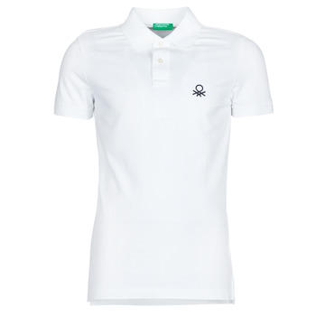 material Men short-sleeved polo shirts Benetton  White