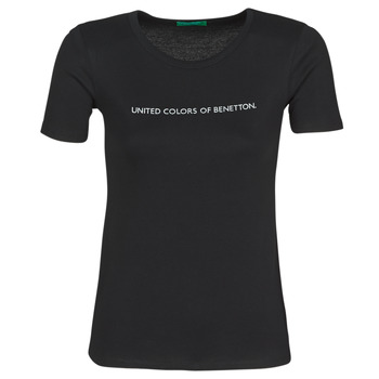 material Women short-sleeved t-shirts Benetton  Black
