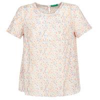 material Women Blouses Benetton DANIEL White / Multicolour