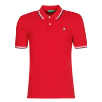 material Men short-sleeved polo shirts Benetton GUERY Red