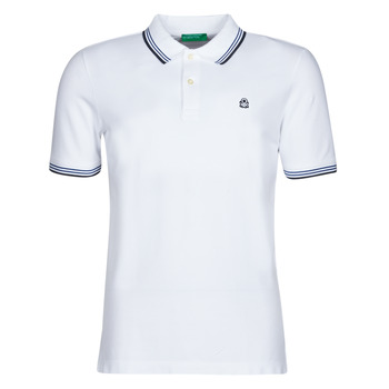material Men short-sleeved polo shirts Benetton GUERAR White