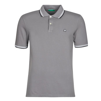 material Men short-sleeved polo shirts Benetton GELISO Grey