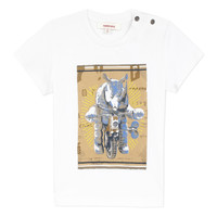 material Boy short-sleeved t-shirts Catimini LARIBI White