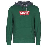 material Men sweaters Levi's MODERN HM HOODIE Green / Grey