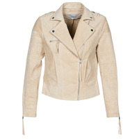 material Women Leather jackets / Imitation leather Vila VICRIS Beige