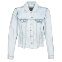 material Women Denim jackets Vila VIANNABEL Blue / Clear