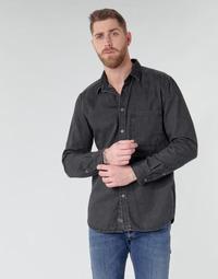 material Men long-sleeved shirts Diesel D-BER-P Black