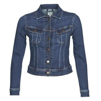 material Women Denim jackets Lee SLIM RIDER JACKET Blue / Marine