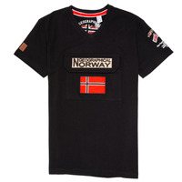 material Boy short-sleeved t-shirts Geographical Norway JIRI Black