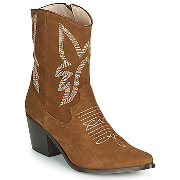 Shoes Women Ankle boots Betty London MOSSINO Camel