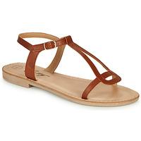 Shoes Women Sandals Betty London MISSINE Cognac