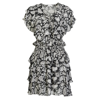 material Women Short Dresses Replay  Black / White