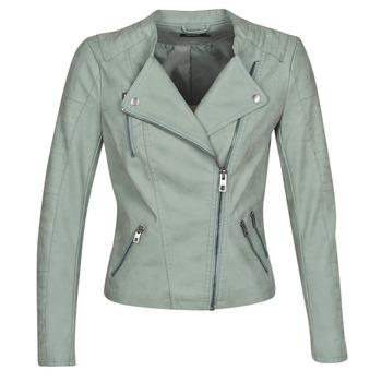 material Women Leather jackets / Imitation leather Only ONLAVA Green