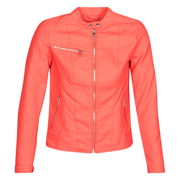 material Women Leather jackets / Imitation leather Only ONLMELANIE Red