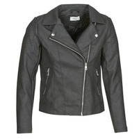 material Women Leather jackets / Imitation leather Only ONLMELANIE BIKER Black