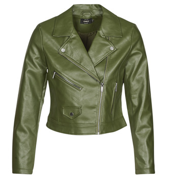 material Women Leather jackets / Imitation leather Only ONLENYA Green