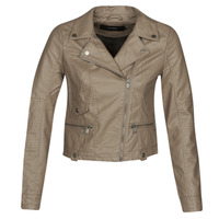 material Women Leather jackets / Imitation leather Vero Moda VMULTRAMALOU Taupe