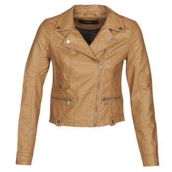 material Women Leather jackets / Imitation leather Vero Moda VMULTRAMALOU Cognac