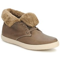 Shoes High top trainers Victoria SAFARI ALTA PIEL TINTADA PELO Taupe